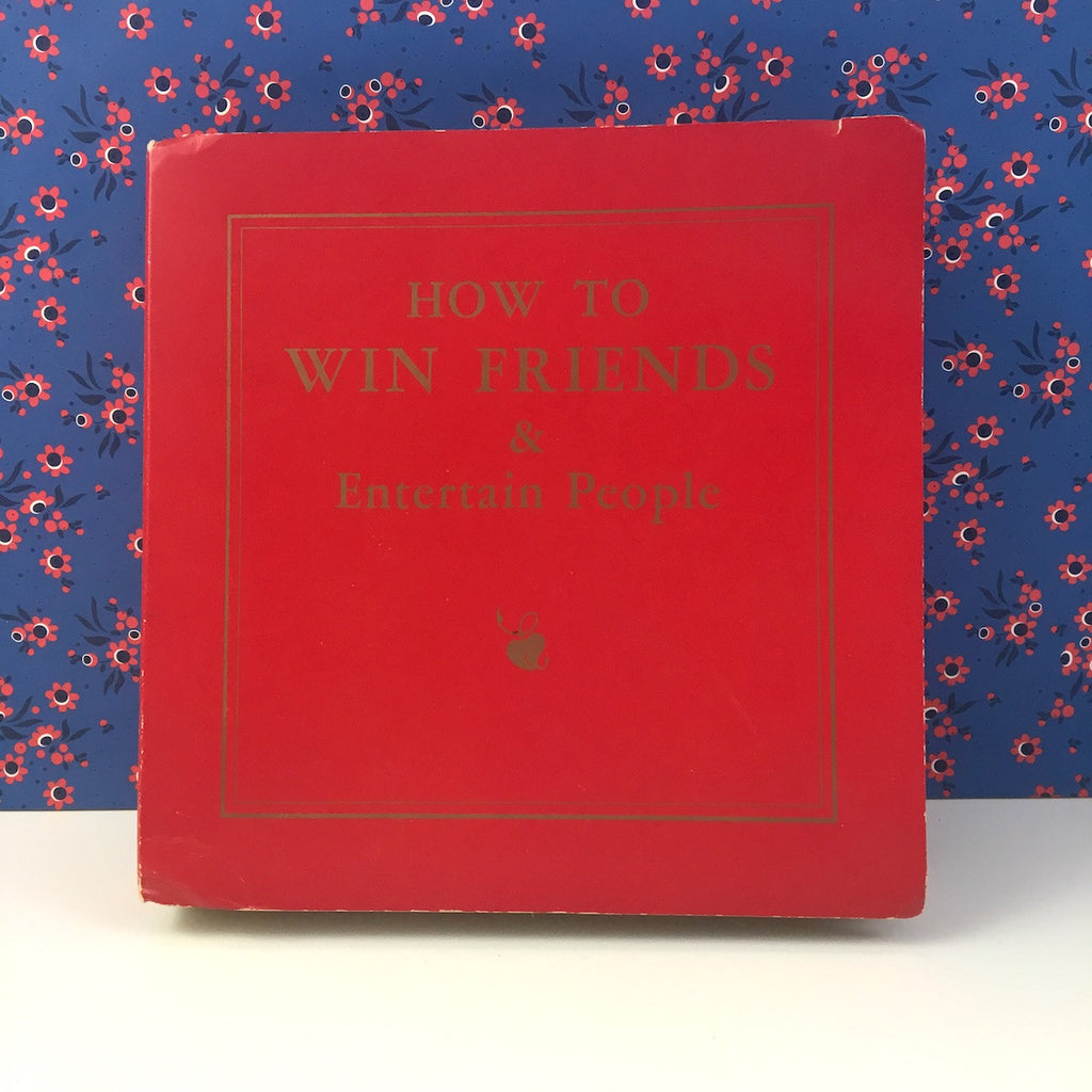 Game night gift set - How to Win Friends and Entertain People - 1950s new old - NextStage Vintage