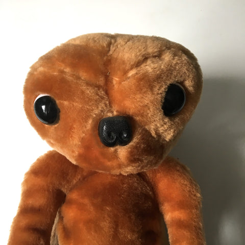 Plush ET lookalike stuffed friend - vintage 1980s extraterrestrial
