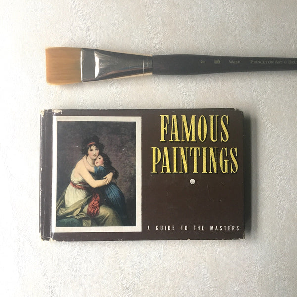 Famous Paintings: A Guide to the Masters - Frances Cavanah - 1941 hardcover Whitman - NextStage Vintage