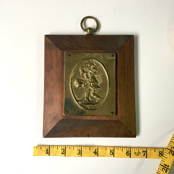 Associated Fireman's Insurance Co. of Baltimore reproduction marker - bright brass and wood - 1970s vintage - NextStage Vintage