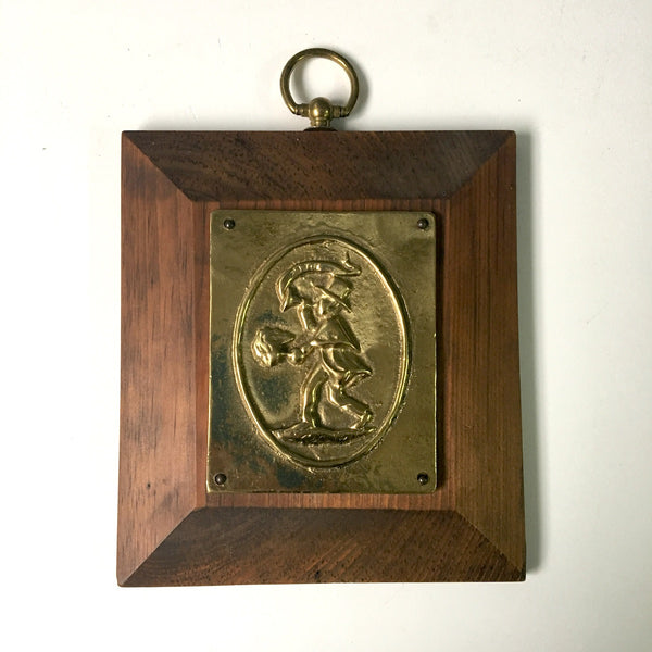 Associated Fireman's Insurance Co. of Baltimore reproduction marker - bright brass and wood - 1970s vintage