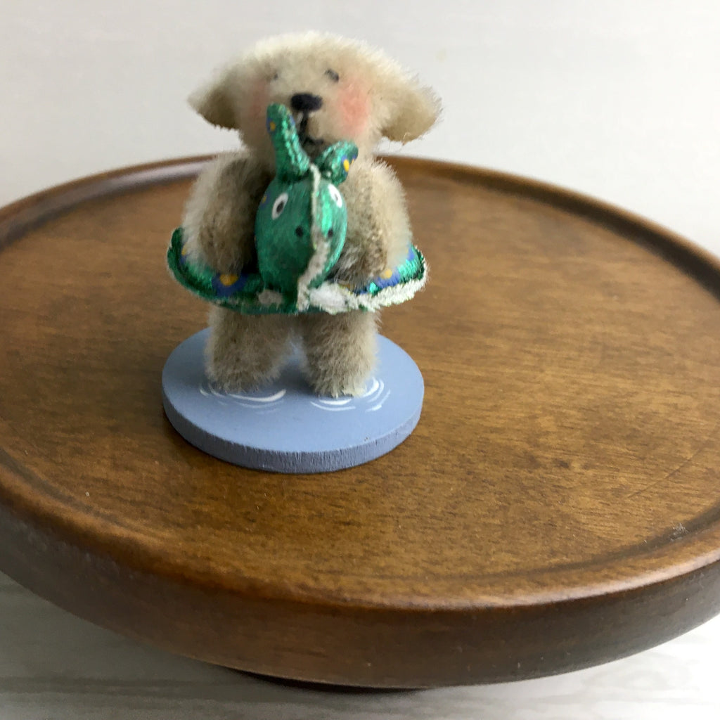 Maria Wheeler Pool Party miniature bear - vintage 1990s handmade bear - NextStage Vintage