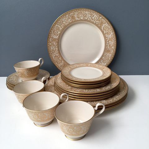 Franciscan Masterpiece Gold Renaissance china - set for 4 - vintage china