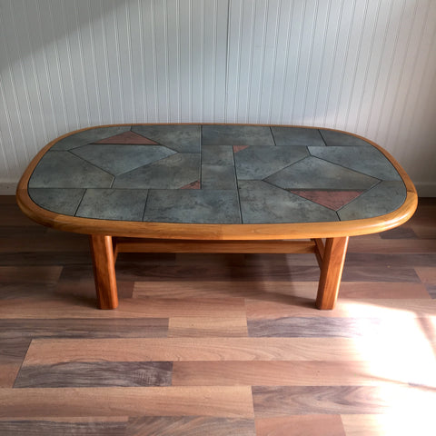Gangso Mobler tile topped coffee table - 1980s Swedish vintage