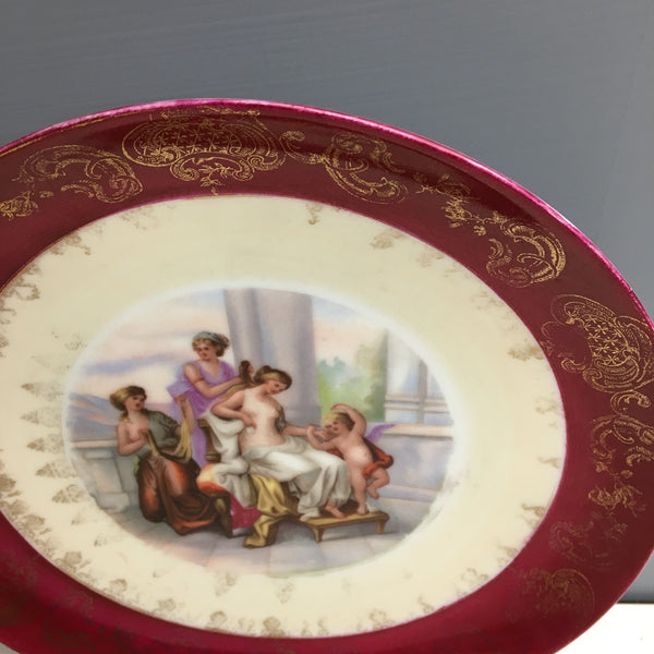 Cupid and goddesses cabinet plate - Austrian beehive - antique decor - NextStage Vintage