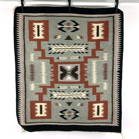 Navajo wool wall hanging or Gallup throw - 1980s vintage