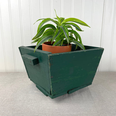 Rusic green painted wooden planter - 1950s vintage - NextStage Vintage
