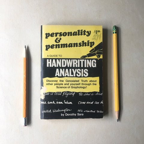 Personality and Penmanship: A Guide to Handwriting Analysis - Dorothy Sara - 1969 softcover - NextStage Vintage