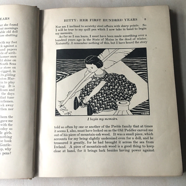 Hitty: Her First Hundred Years - Rachel Field - illustrations by Dorothy P. Lathrop - 1930 hardcover - NextStage Vintage