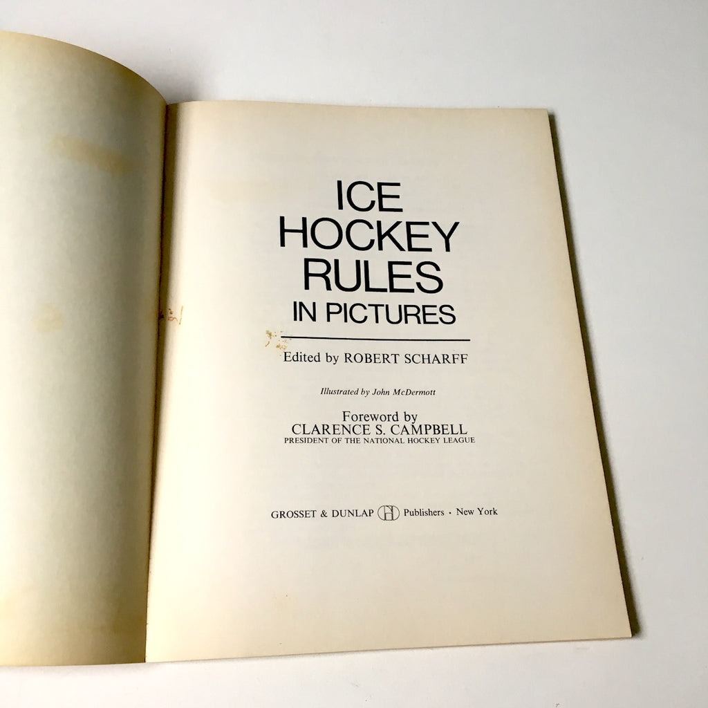 Ice Hockey Rules In Pictures Edited By Robert Scharff 1967