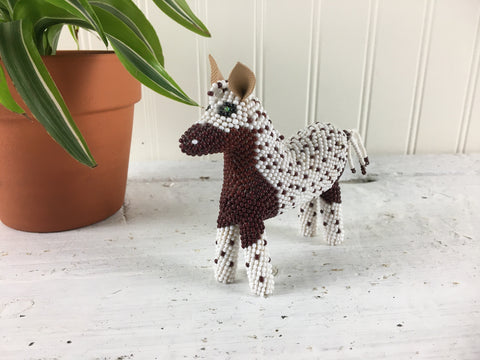 Native American style beaded horse - Zuni style figurine - NextStage Vintage