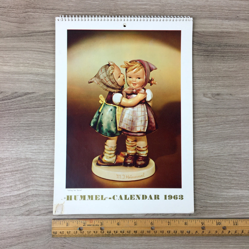 1963 Hummel-Calendar - vintage Hummel collectible