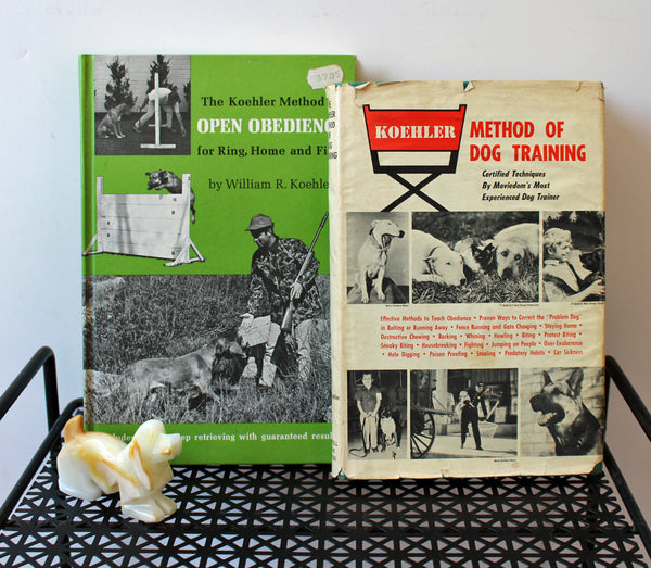 W.R. Koehler dog training books - set of 2 hardcovers - 1960s - NextStage Vintage