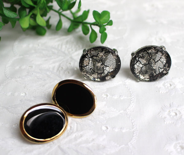 Clip on earrings - two pairs - oversized - 1980s jewelry - NextStage Vintage
