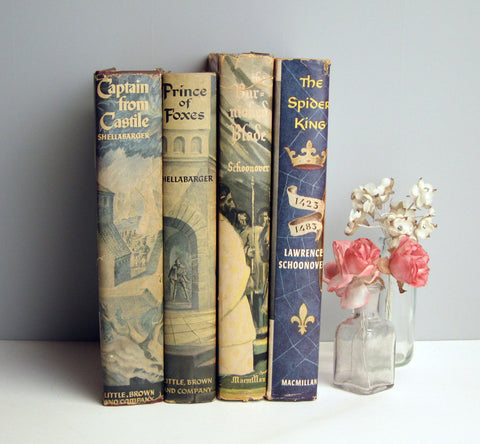 1940s - 1950s Historical Romance Novels - European settings - vintage book club edition tales of love and adventure - book decor - NextStage Vintage