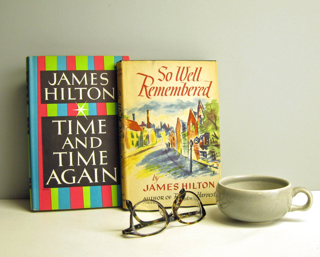Two James Hilton novels - vintage book club editions with dust jackets - 1940s, 1950s - NextStage Vintage