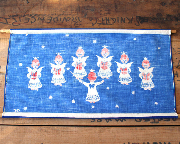 Vintage 1970s Nina Langebaek angel choir wall hanging - Scandinavian decor - NextStage Vintage