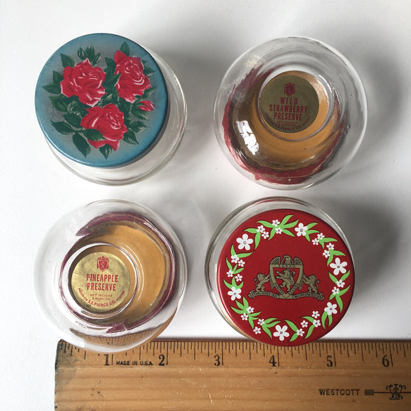 Vintage glass grocery jar collection - 8 spice and jelly jars - NextStage Vintage