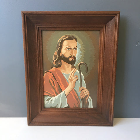 Craft Master Jesus Religious Subjects paint by numbers - 1960s vintage