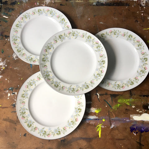 Johann Haviland Forever Spring china - 4 bread and butter plates - vintage 1980s china - NextStage Vintage