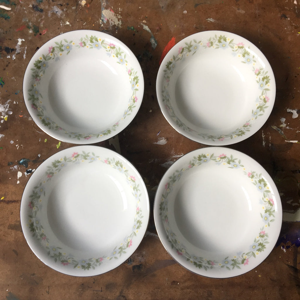 Johann Haviland Forever Spring china - 4 berry bowls - vintage 1980s china - NextStage Vintage