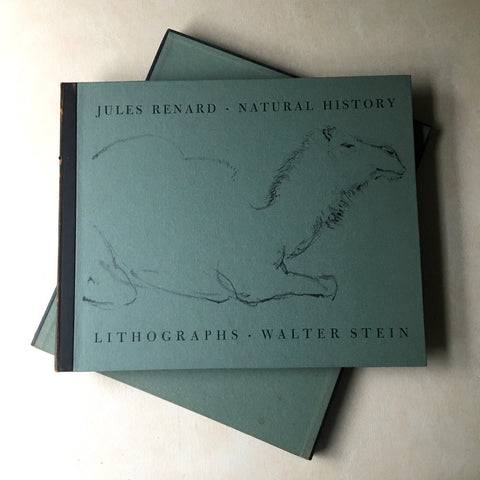 Jules Renard Natural History - Lithographs by Walter Stein- 1960 hardcover with slipcase - NextStage Vintage