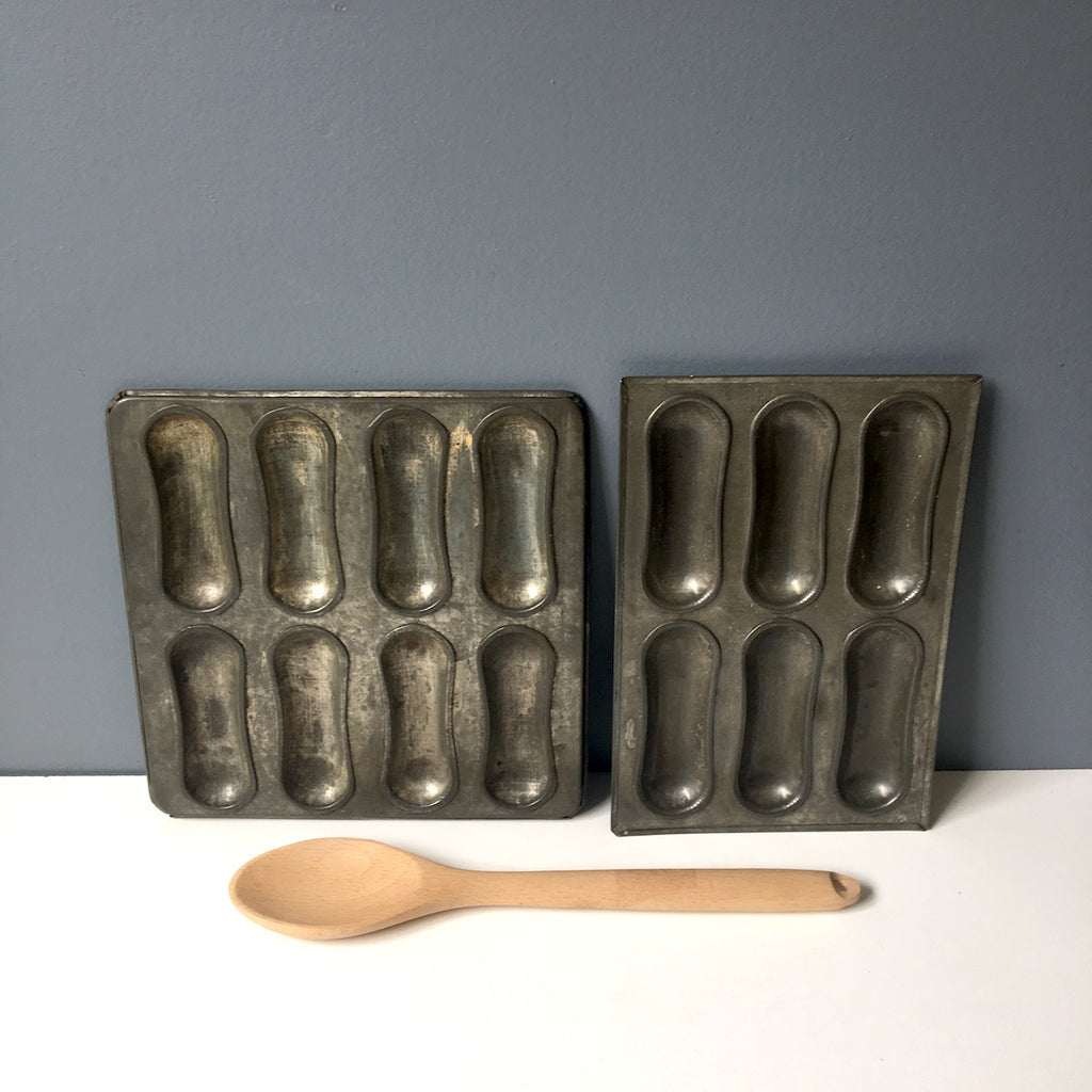 Lady fingers baking pans - set of two - vintage specialty baking pans - NextStage Vintage