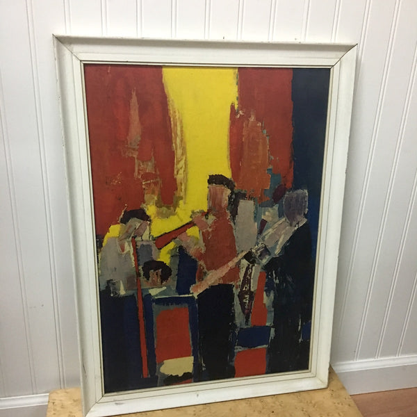 Les Musiciens by Nicolas de Stael - framed print - 1950s - NextStage Vintage