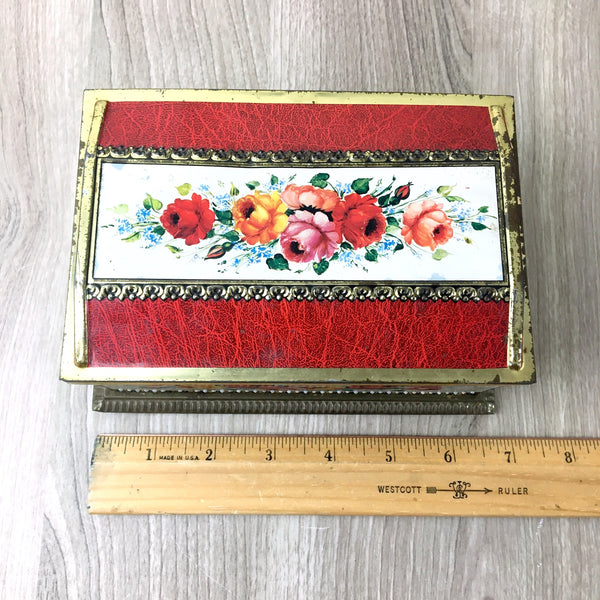 Linette candy tin - vintage Klann West German floral tin - NextStage Vintage