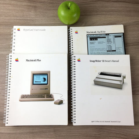 Macintosh Plus, MacWrite, ImageWriter II and Hypercard User's Guides - 1985, 1986, 1987 vintage