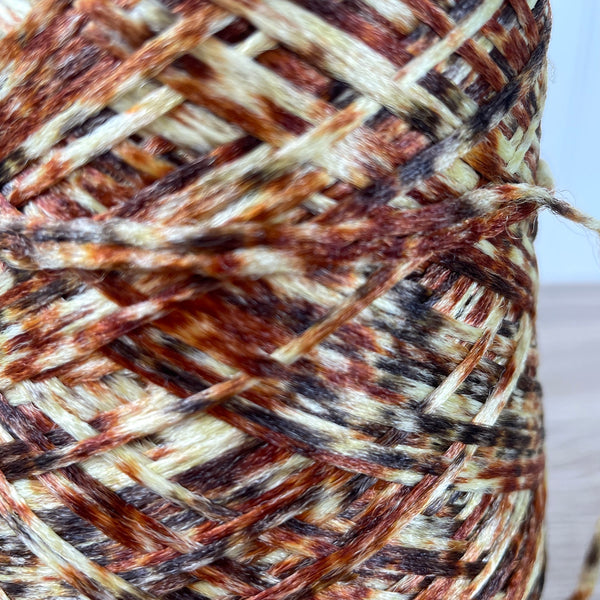 Ombre brown macrame cord on a cone - 1970s vintage - NextStage Vintage
