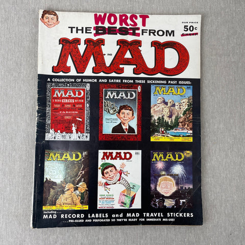 """The Worst from Mad"" 1956-1957 - vintage best of collection - good condition"