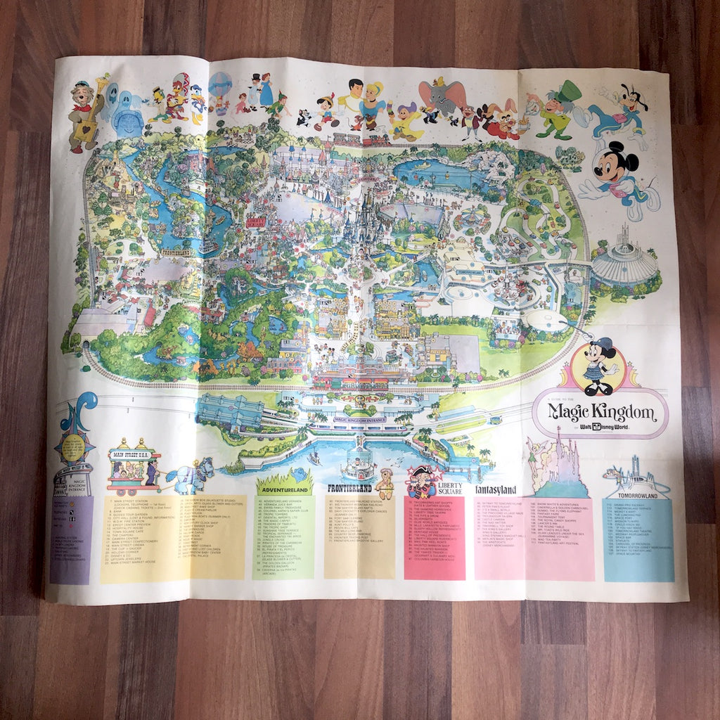 A Guide to the Magic Kingdom of Walt Disney World 1978 poster - vintage Disney - NextStage Vintage