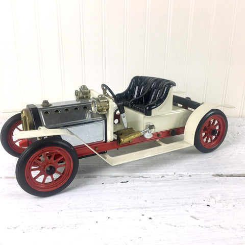 Mamod steam roadster model - 1970s vintage metal car - made in England