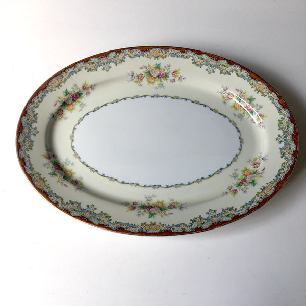 Meito China Marlborough oval platter - vintage floral china - NextStage Vintage