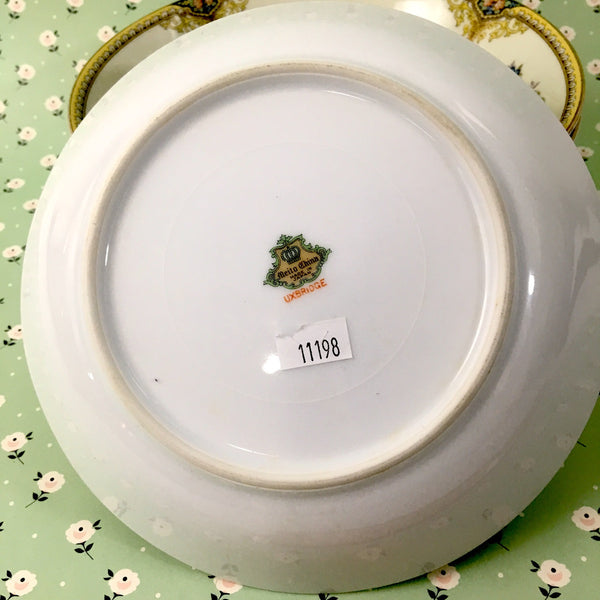 Meito Uxbridge coupe soup bowls - set of 4 - 1950s vintage china - NextStage Vintage