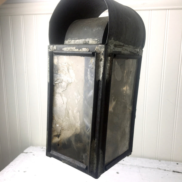 Antique tin and mica panel candle lantern - antique lighting - NextStage Vintage