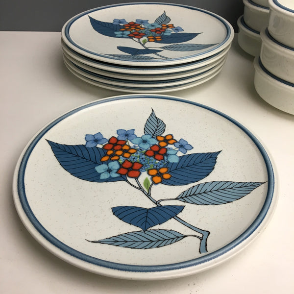 1970s Mikasa Cordon Bleu Hydrangea set of 6 - 38 piece vintage china set - NextStage Vintage