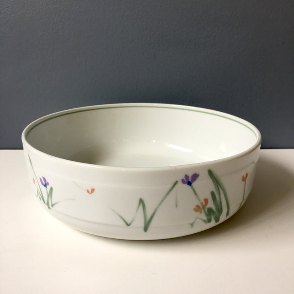 Mikasa Sketchbook open serving bowl  #L9175 - 1980s vintage china - NextStage Vintage