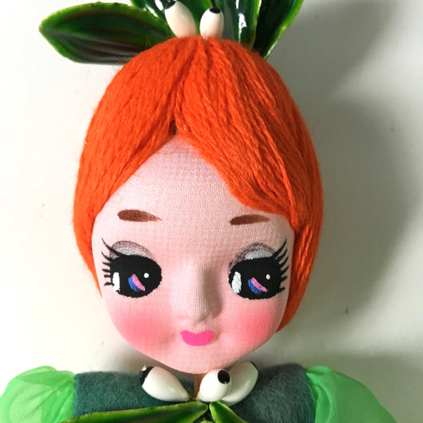 Big eyes Miss Mistletoe vintage doll - made in Japan - 1960s vintage