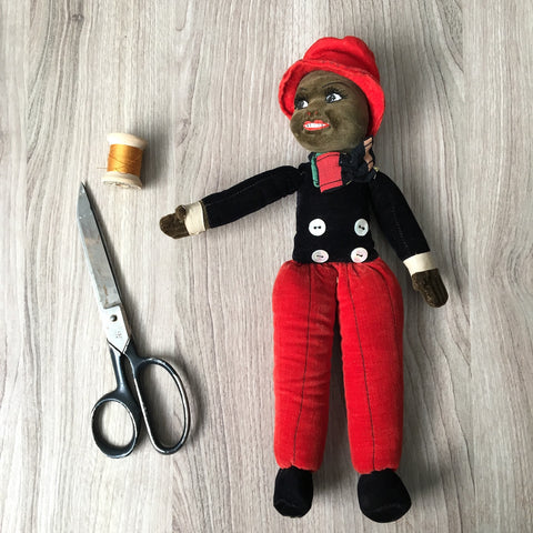 Norah Wellings black male doll - vintage - made in England