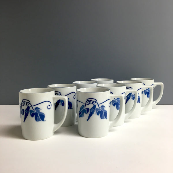 Balos Morning Glory mug set of 8 - made in Japan - 1970s vintage - NextStage Vintage