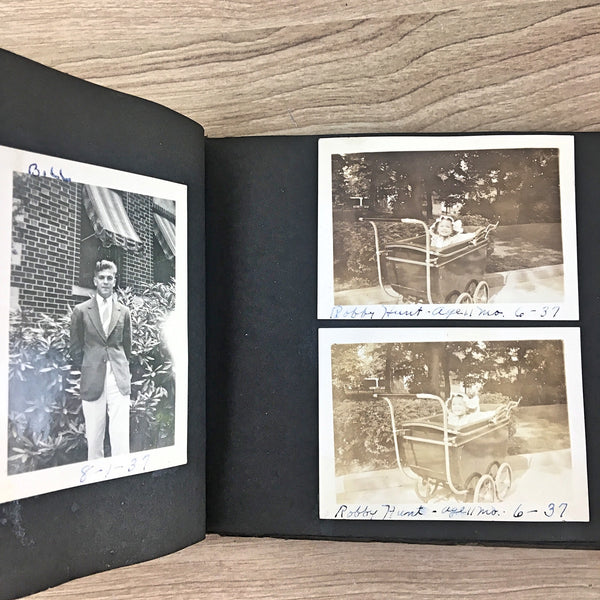 1930s photograph album - family life, college, camp snapshots