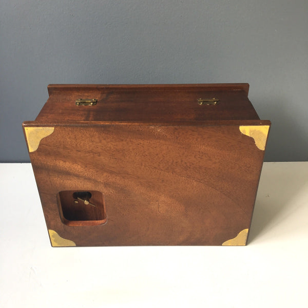 "Wooden musical jewelry box - vintage handmade box - ""Some Enchanted Evening"" - NextStage Vintage"