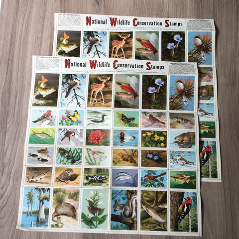 National Wildlife Federation Conservation Stamps - 2 sheets - 1966 vintage