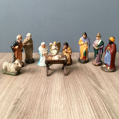 Nativity figures - vintage German, Japanese and possibly Italian figures