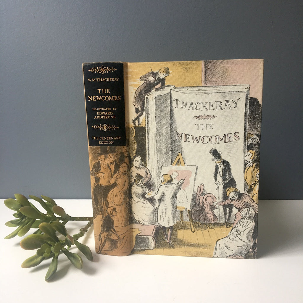 The Newcomes by William Makepeace Thackeray - Heritage Press illustrated hardcover - 1955 - NextStage Vintage