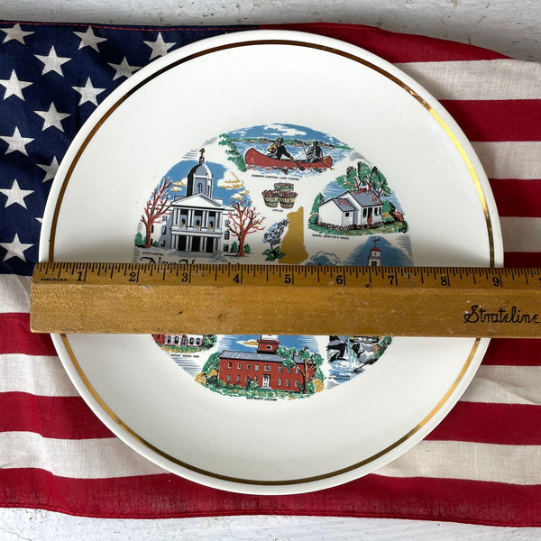 New Hampshire souvenir decorative plate - 1960s road trip vintage - NextStage Vintage
