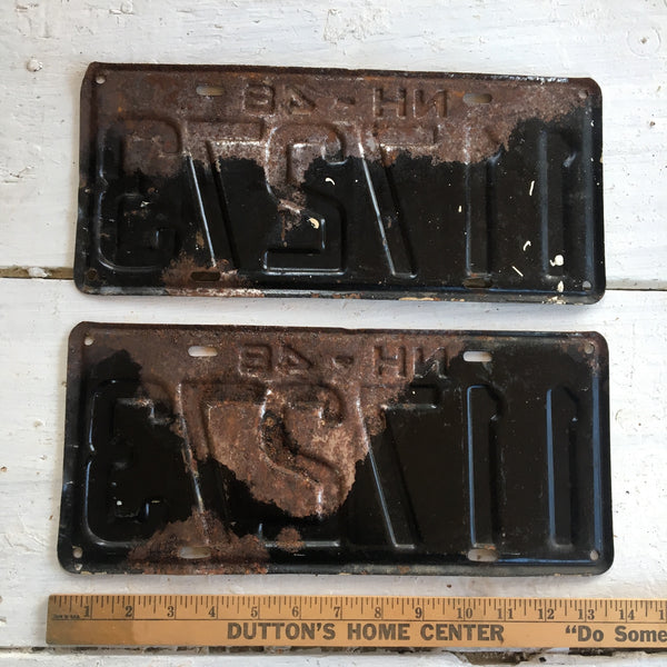 1948 New Hampshire automobile license plate pair - 117273 - NextStage Vintage