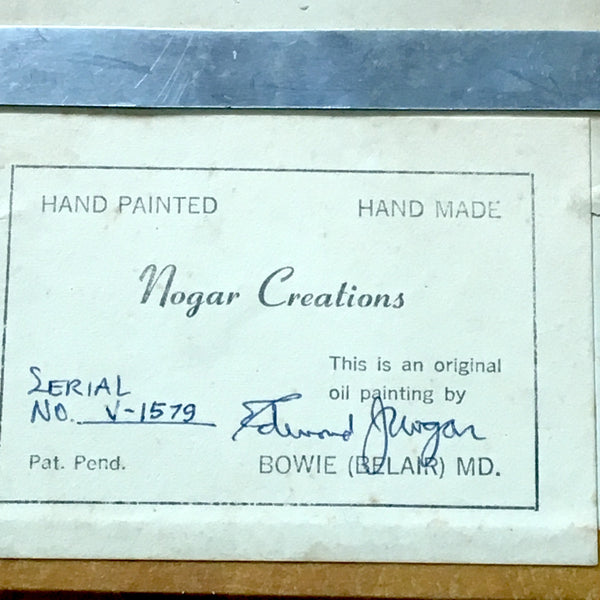 Nogar Creations 3D yellow violet painting - No. V-1579 - signed - 1960s - NextStage Vintage